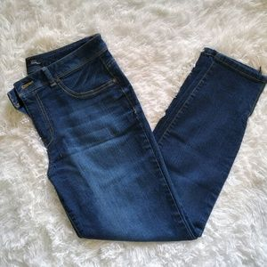 High Waisted Ankle Zipper Jeans